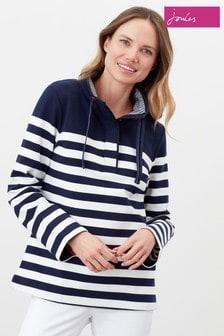 Joules Blue Saunton Funnel Neck Sweatshirt
