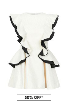 Jessie And James Girls Cream Butterfly Dress