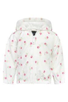 Monnalisa Baby Girls Cream Girls Jacket
