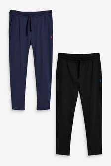 Black/Navy Open Hem Joggers Two Pack Lightweight Loungewear