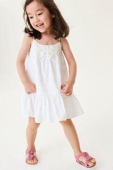 White Butterfly Crochet Dress (3mths-7yrs)