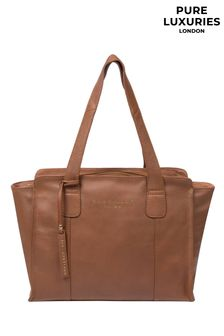 Pure Luxuries London Tan Alexandra Leather Handbag