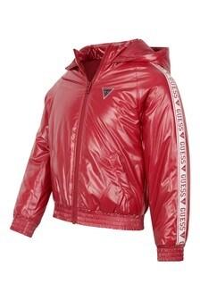 Girls Pink Hooded Jacket