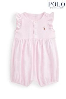 Ralph Lauren Pink Stripe Romper