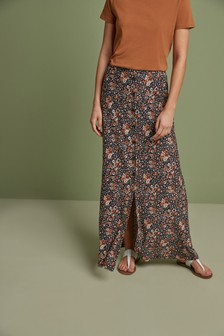 Ditsy Print Maxi Skirt