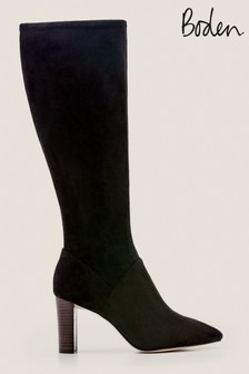 Boden Black Pointed Stretch Boots