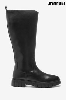 Maruti Black Thom Boots