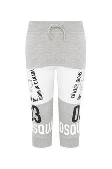 Baby Boys Grey Cotton Joggers