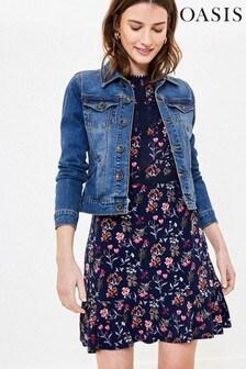Oasis Blue Pale Wash Denim Jacket