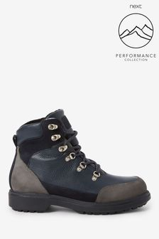 Navy Performance Waterproof Signature Leather Hiker Boots