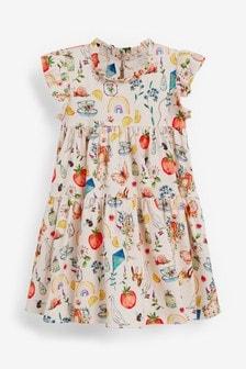 Ecru Tier Dress (3mths-7yrs)