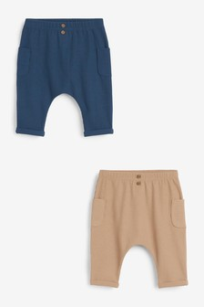 Blue/Brown 2 Pack Joggers (0mths-2yrs)