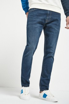 Dark Blue Skinny Fit Slim Fit Jeans With Stretch