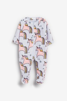 Bright Unicorn Fleece Sleepsuit (0mths-3yrs)