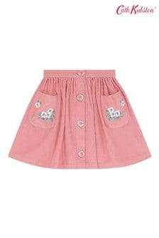 Cath Kidston® White Needlecord Button Down Skirt