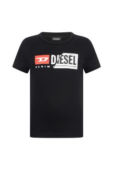 Boys Black Cotton Jersey T-Shirt