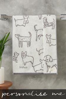 Personalised Dog Print Towel