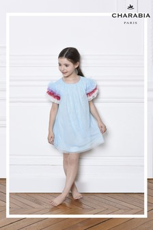Charabia Blue Ombre Sleeve Dress