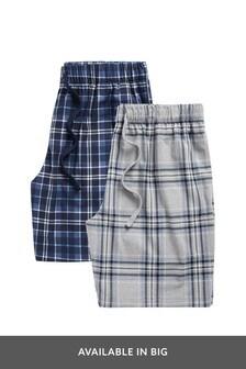 Grey/Blue Cosy Short Pyjama Bottoms 2 Pack