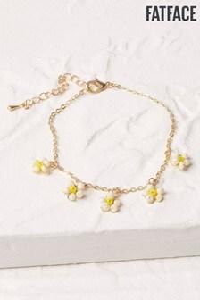 FatFace Gold Tone Daisy Chain Bracelet