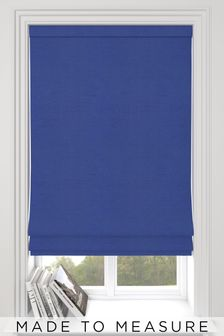 Eloise Indigo Blue Made To Measure Roman Blind