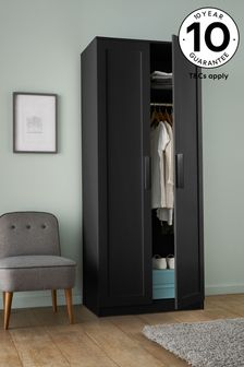 Dark Graphite Flynn Double Wardrobe