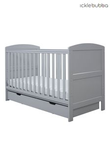 Grey Coleby Classic Cot Bed and Under Drawer by Ickle Bubba