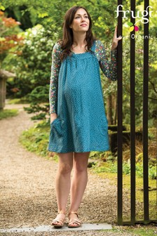 Frugi Organic Linen Maternity Dress With Scatter Spot