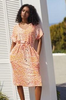 Pink Jersey Midi Dress