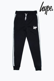 Hype. Black Taped Panel Kids Joggers