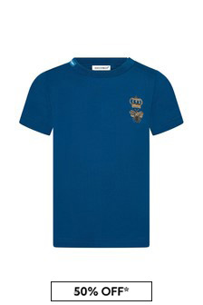 Baby Boys Blue Cotton T-Shirt