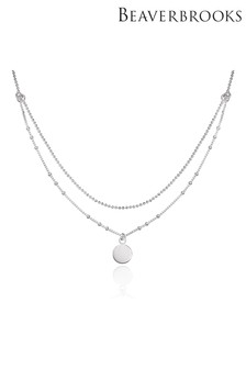 Beaverbrooks Double Strand Disc Choker Necklace