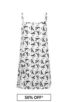 فستان أبيض للبنات منCalvin Klein Underwear