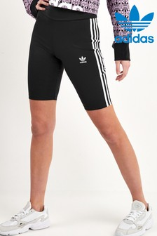 adidas Originals 3 Stripe High Waisted Cycling Shorts