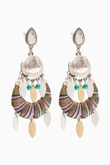 Multicoloured Statement Wrap Earrings