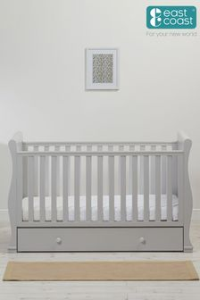 Grey Alaska Cot Bed By East Coast