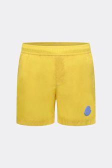 Boys Yellow Logo Swim Shorts