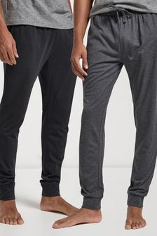 Black/Grey Cuffed Pyjama Bottoms 2 Pack
