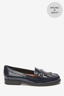 Navy Hardware Loafers