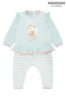 Monsoon Newborn Baby Ballerina Mouse Knit Set