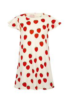 فستان قطن لون كريم بناتي منMini Rodini