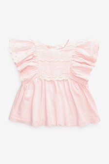 Pink Broderie Blouse (3mths-7yrs)