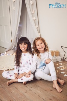 Grey/Ecru 2 Pack Disney™ Frozen Snuggle Pyjamas (2-10yrs)