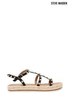 Steve Madden Black Libera Sandals