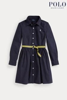 Ralph Lauren Navy Logo Oxford Shirt Dress