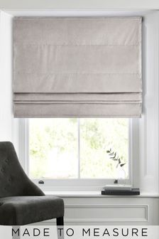 Soft Velour Oatmeal Made To Measure Roman Blind