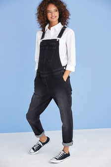 Denim Black Maternity Denim Dungarees