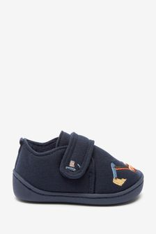 Navy Digger Strap Touch Fasten Cupsole Slippers