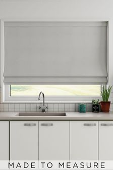 Cotton Silver Made To Measure Roman Blind