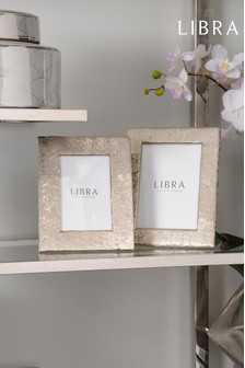 Libra Brushed Aluminium Picture Frame